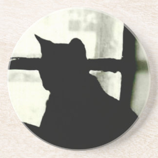 'Cat in Window' Coaster