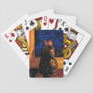 Cat in Window Playing Cards