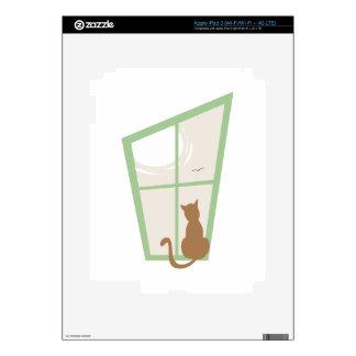 Cat In Window Skin For iPad 3