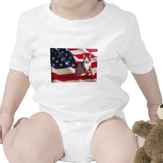 Cat Infant Creeper God Bless America