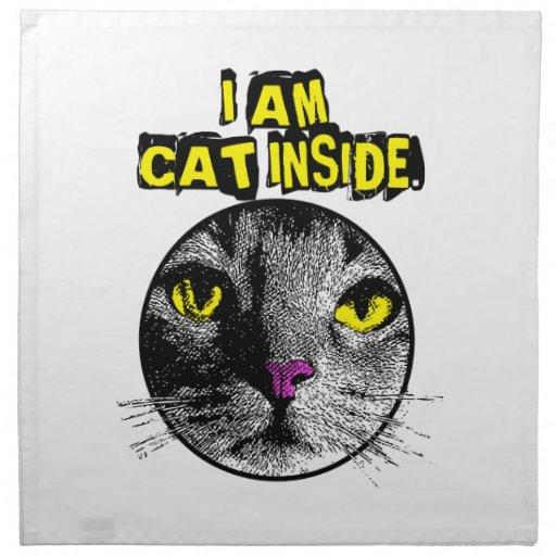 Cat Inside プリントナプキン