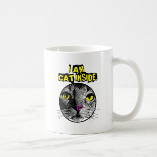 Cat Inside Classic White Coffee Mug