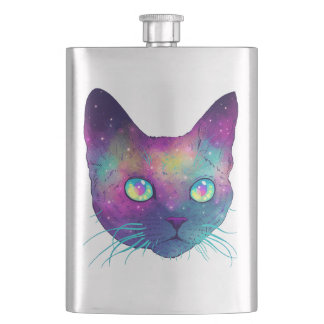 Cat intergalcatic. flask