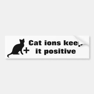 Cat ions bumper sticker