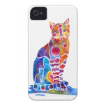Cat iPhone Cases Vibrant Colors iPhone 4 Case-Mate Cases