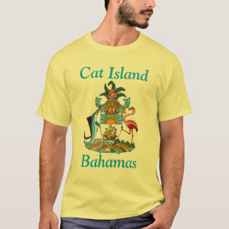 Cat Island, Bahamas with Coat of Arms T-Shirt