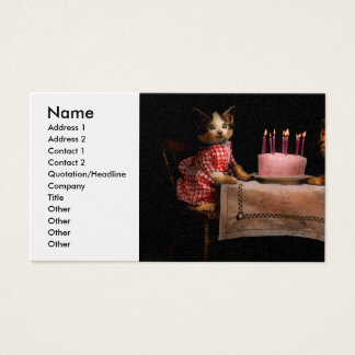 Cat - It's our birthday - 1914 Business Card