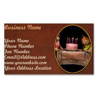 Cat - It's our birthday - 1914 Business Card Magnet