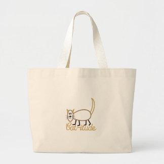 Cat-itude Attitude Large Tote Bag