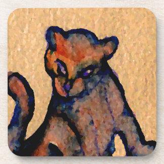 Cat-itude Cat Art Catness Attitude of Cats Beverage Coasters