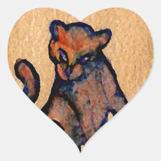 Cat-itude Cat Art Catness Attitude of Cats Heart Stickers