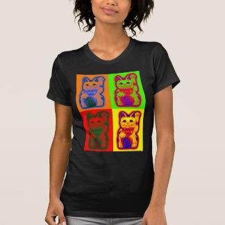 CAT JAPONÉS Maneki Neko del dinero Camisetas