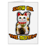 CAT JAPONÉS Maneki Neko del dinero Tarjeton