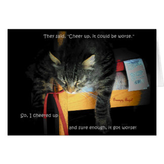 Cat Jokes - Depressed Kitty Card