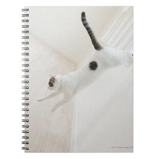 Cat jumping spiral notebook
