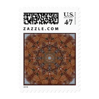 Cat Kaleidoscope Stamp
