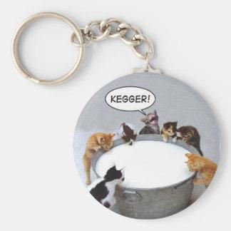 Cat Kegger Keychain