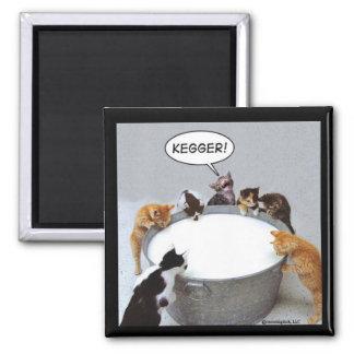 Cat Kegger Magnet