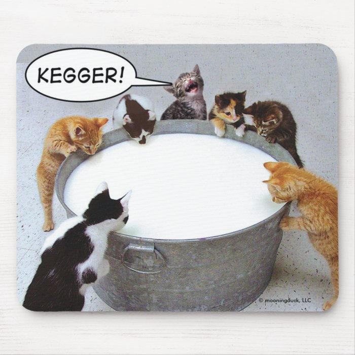 Cat Kegger Mousepad