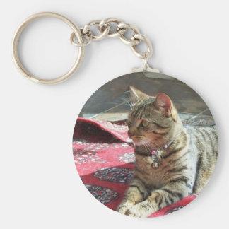 Cat Key Chain: Minnie the Minx Basic Round Button Keychain
