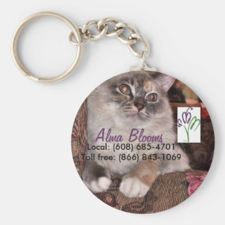 Cat Basic Round Button Keychain