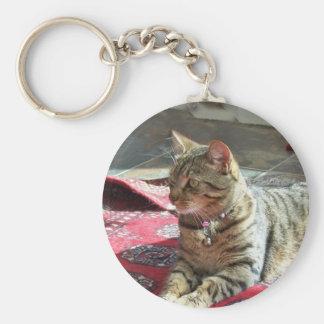 Cat Keychain: Minnie the Minx Basic Round Button Keychain