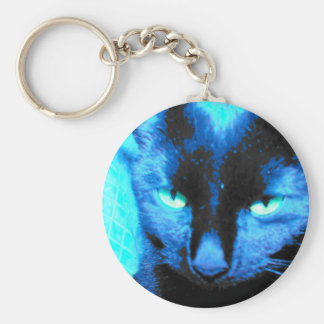 Cat Keychain: we are not amused Basic Round Button Keychain