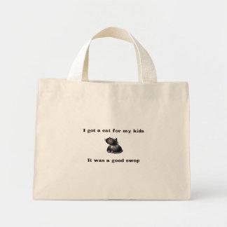 cat kids swop mini tote bag