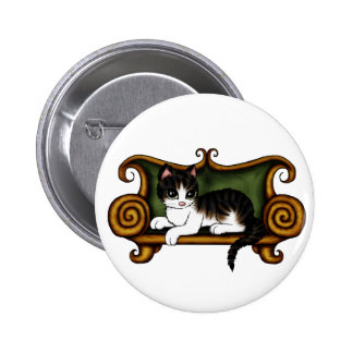 Cat King Buttons