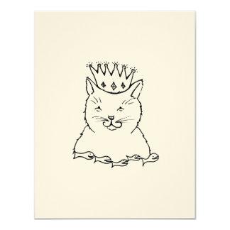 Cat King - fun feline royalty art drawing design Card