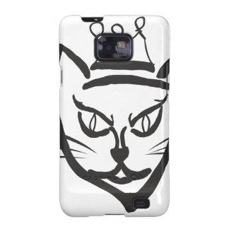 Cat King Illustration, Cartoon Kitty Cat Galaxy SII Covers
