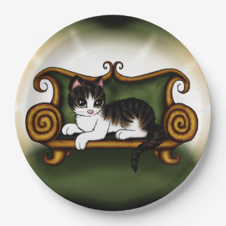 Cat King Paper Plate