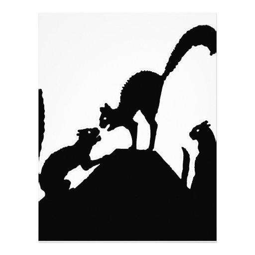 Cat kiss hug love personalized letterhead