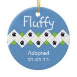 Cat/Kitten Adoption Announcement Christmas Tree Ornaments