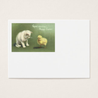 Cat Kitten Easter Chick Business Card
