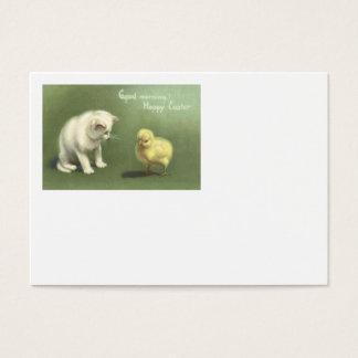 Cat Kitten Easter Chick Business Card