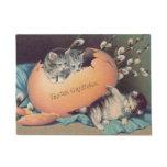 Cat Kitten Easter Colored Egg Cotton Doormat