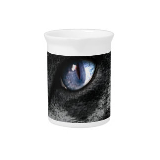 Cat Kitten Eye Stare Look Animal Drink Pitcher