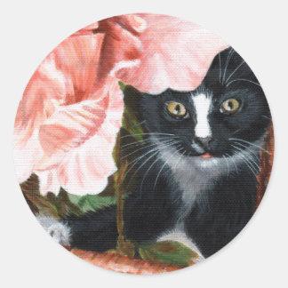 Cat Kitten Flower sticker