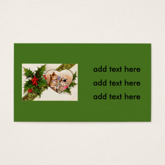Cat Kitten Heart Shamrock Holly Business Card