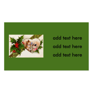 Cat Kitten Heart Shamrock Holly Double-Sided Standard Business Cards (Pack Of 100)
