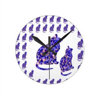 Cat Kittens KIDS Love Template Greetings Gifts FUN Wall Clock