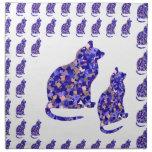 Cat Kittens KIDS Love Template Greetings Gifts FUN Printed Napkin