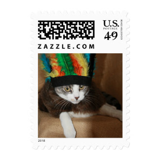 Cat/Kitty in Headdress Postage