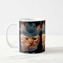 Cat Kitty Kitten In Clothes Pipe Cowboy Hat Coffee Mug