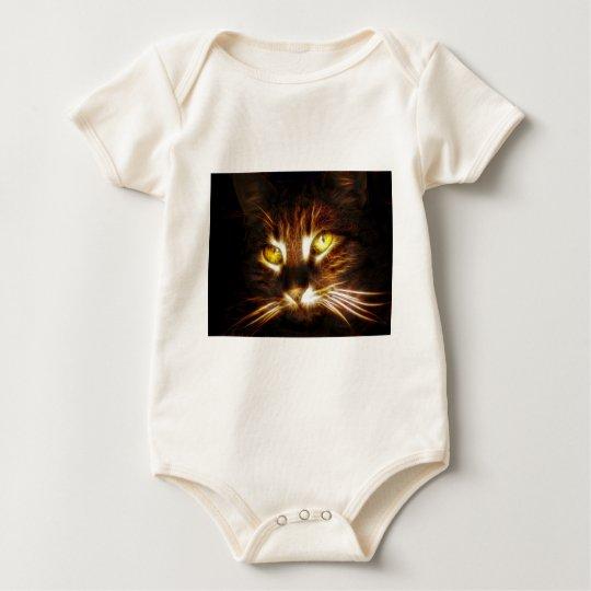 Cat, kitty, kitten with glowing eyes baby bodysuit