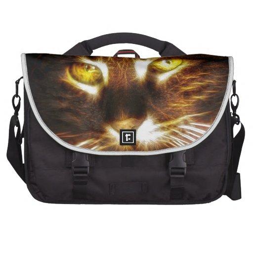 Cat, kitty, kitten with glowing eyes bags for laptop