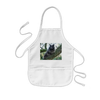 Cat Kyra in a tree Aprons