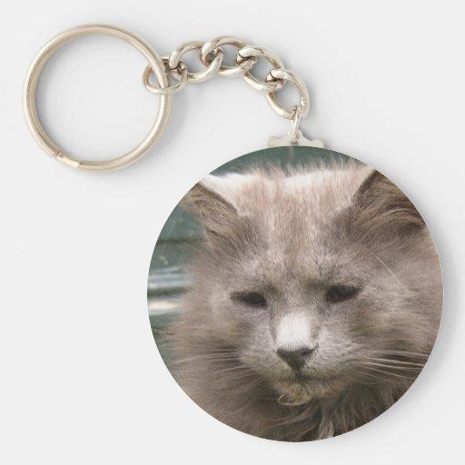 Cat 'Kyra' portrait Key Chain