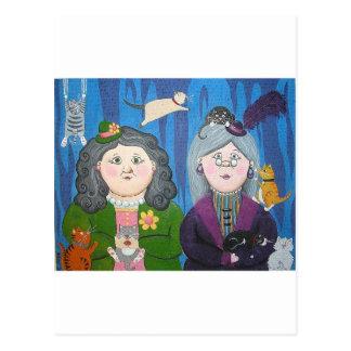 cat ladies 2 postcard